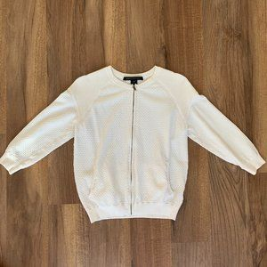 Marc By Marc Jacobs Zip Up Cardigan Sweater Ivory